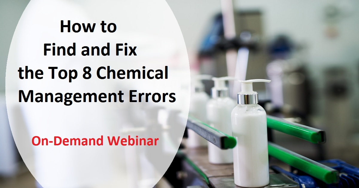 How to Find and Fix the Top 8 Chemical Management Errors
