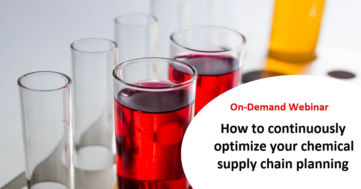 How to continuously optimize your chemical supply chain planning