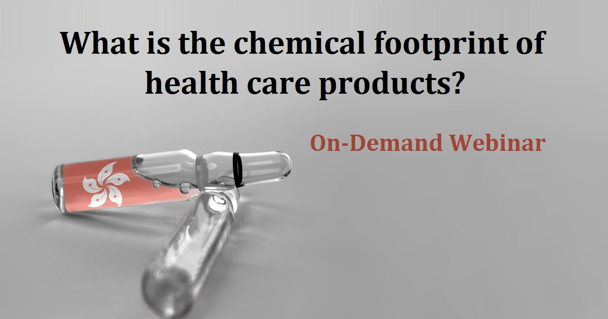 What is the chemical footprint of health care products?