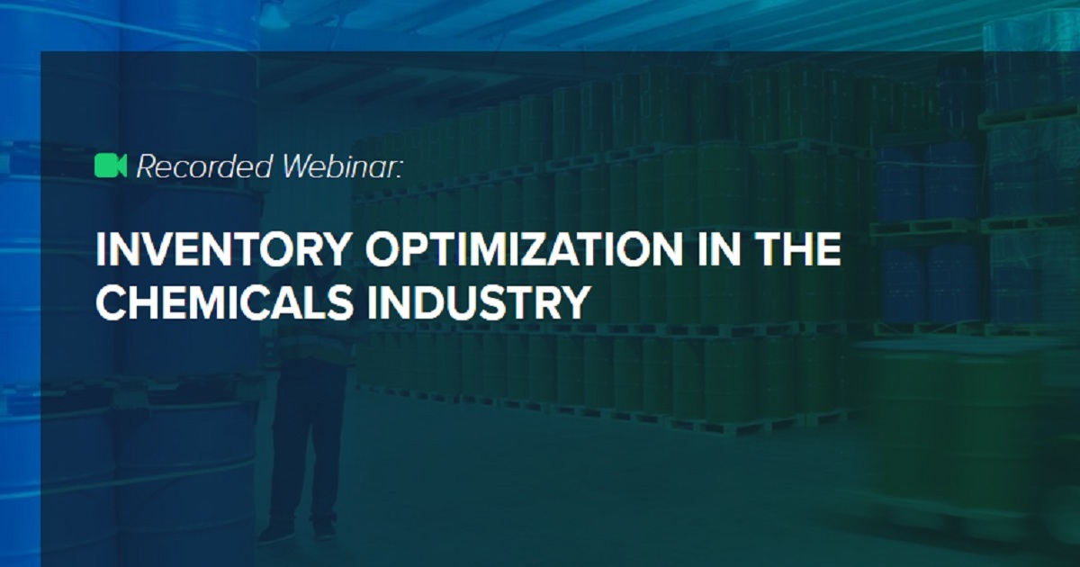 INVENTORY OPTIMIZATION IN THE CHEMICALS INDUSTRY
