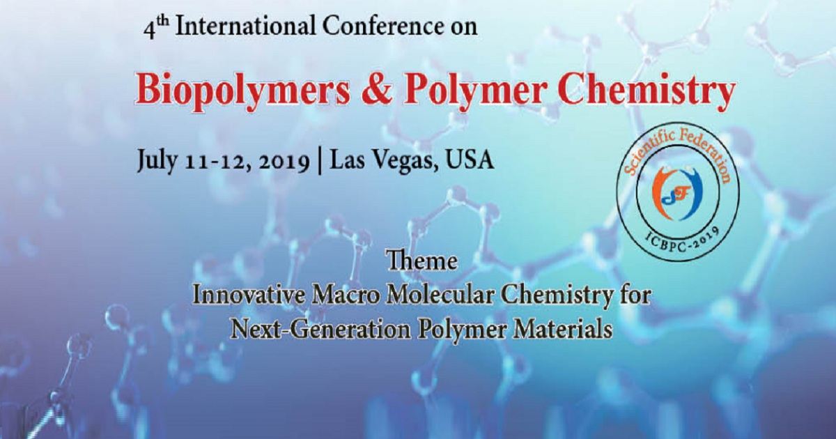 4th edition of the Biopolymers & Polymer Chemistry conference