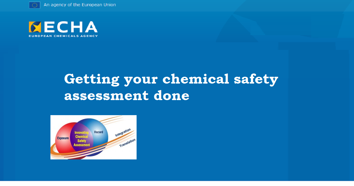 Getting your chemical safety assessment done