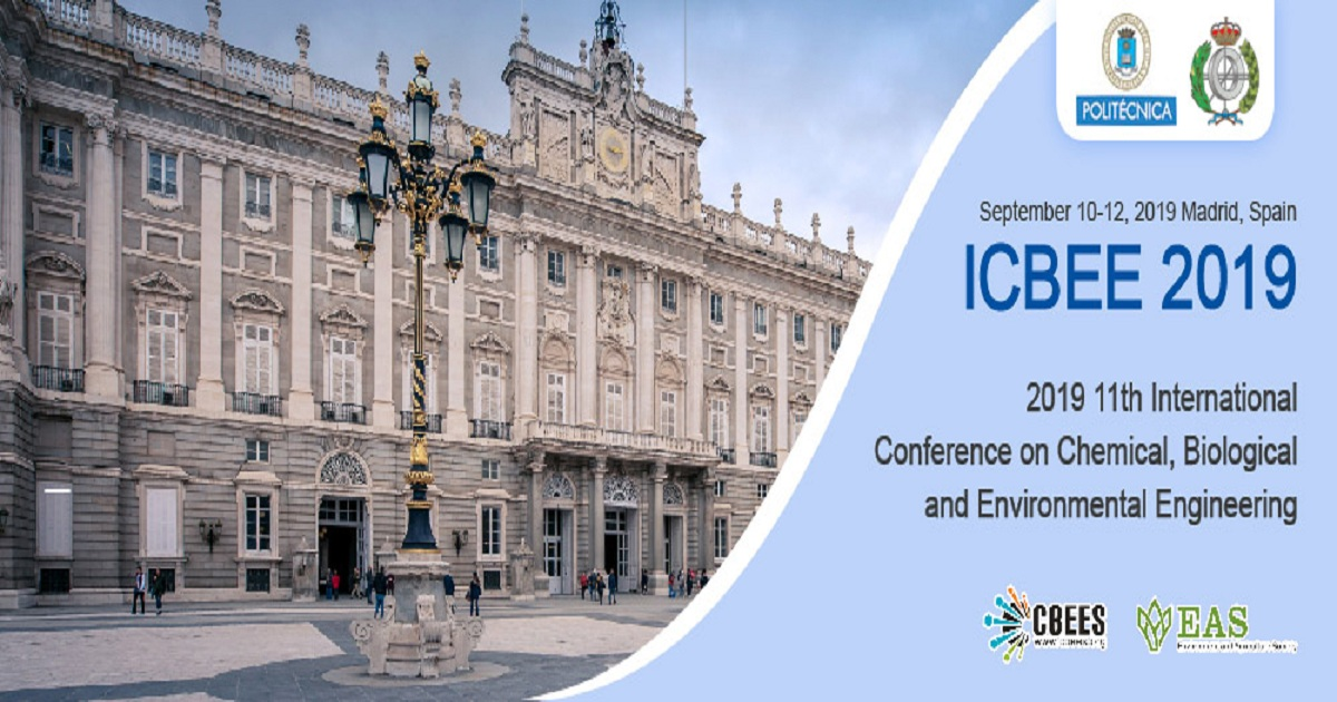 11th International Conference on Chemical, Biological and Environmental Engineering