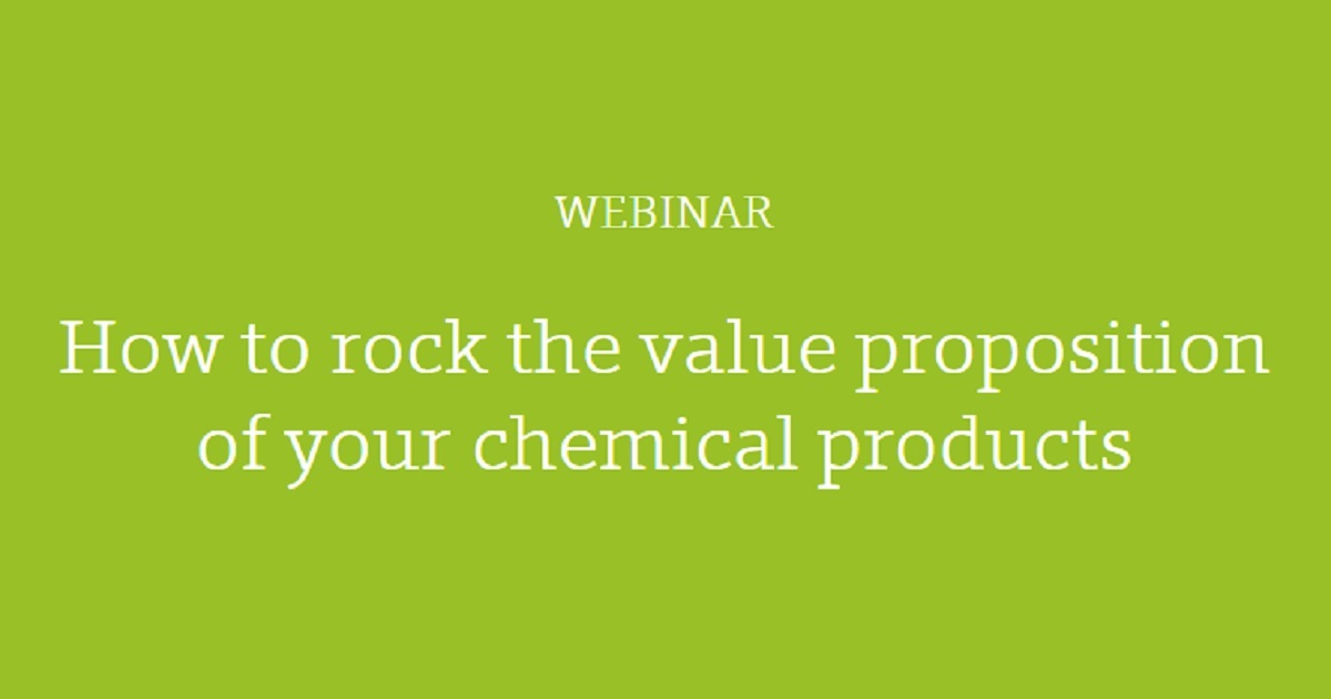 How to rock the value proposition of your chemical products