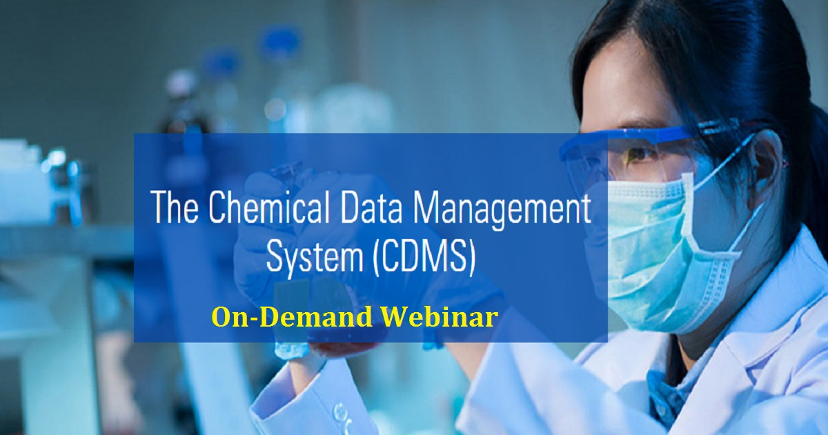 Find out how the use of CDMS can help your business manage chemical data and testing activities along the chain of manufacturing