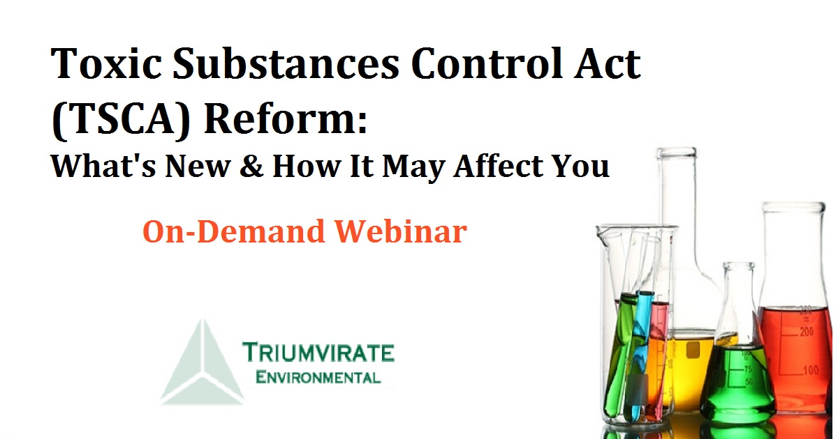 Toxic Substances Control Act (TSCA) Reform: What