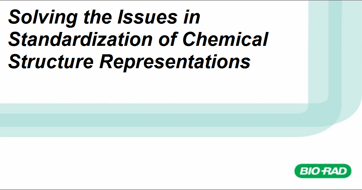 Solving the Issues in Standardization of Chemical Structure Representations