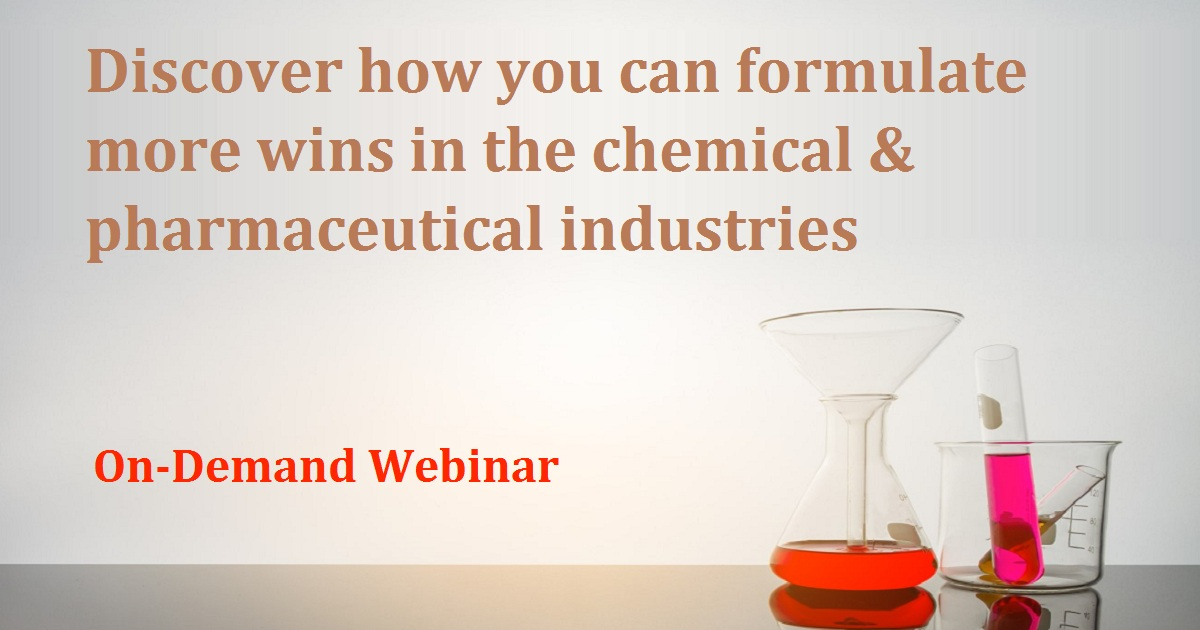 Discover how you can formulate more wins in the chemical & pharmaceutical industries