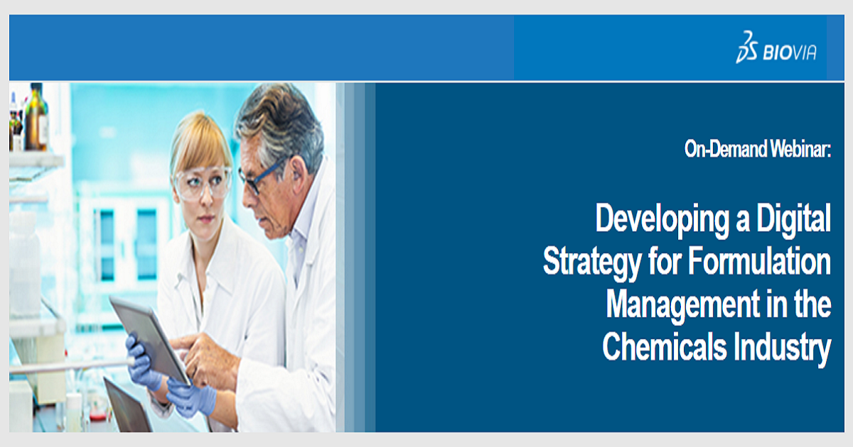 Developing a Digital Strategy for Formulation Management in the Chemicals Industry