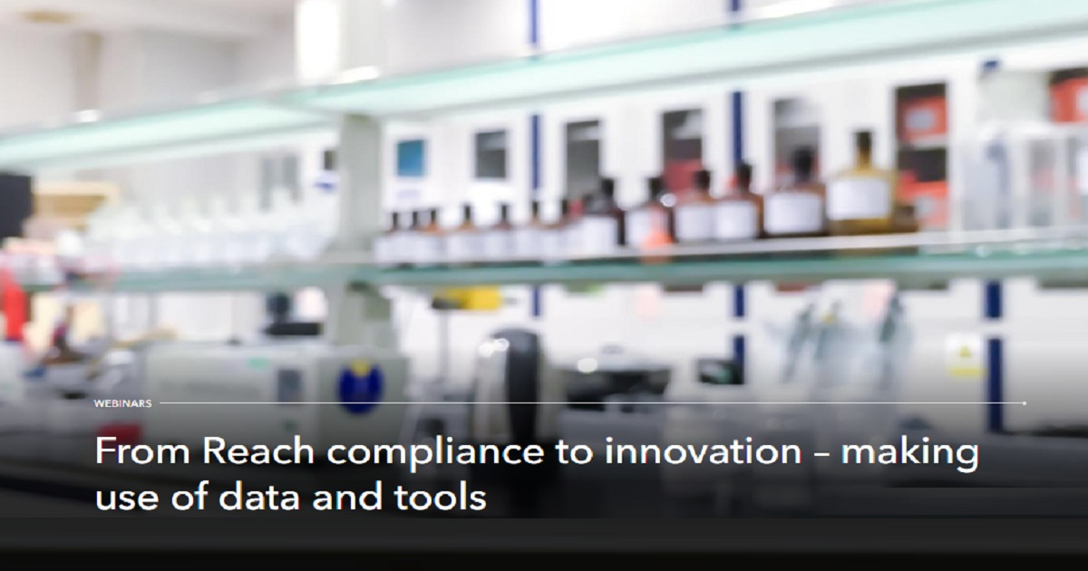From Reach compliance to innovation – making use of data and tools