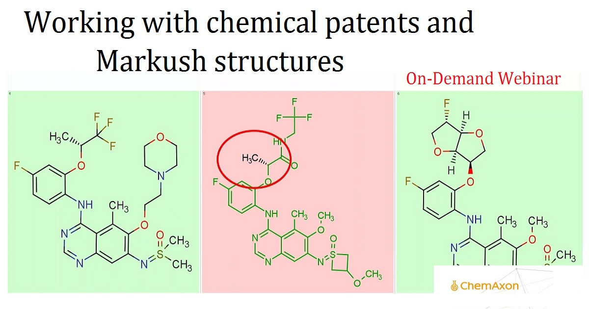 Working with chemical patents and Markush structures