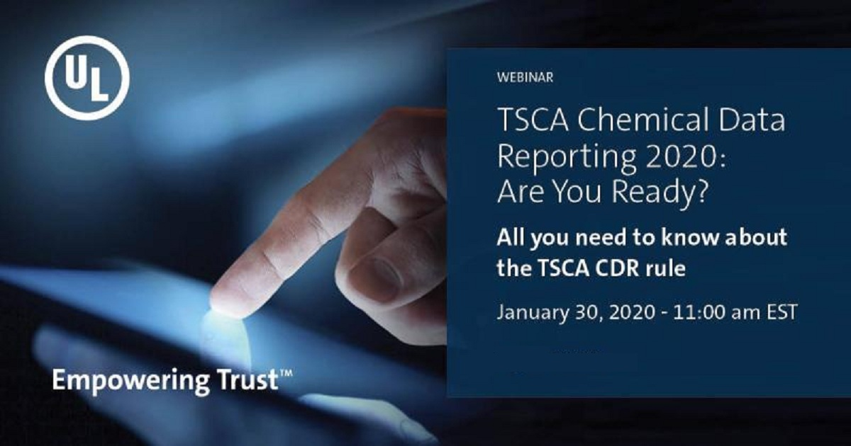 TSCA Chemical Data Reporting 2020: Are You Ready?