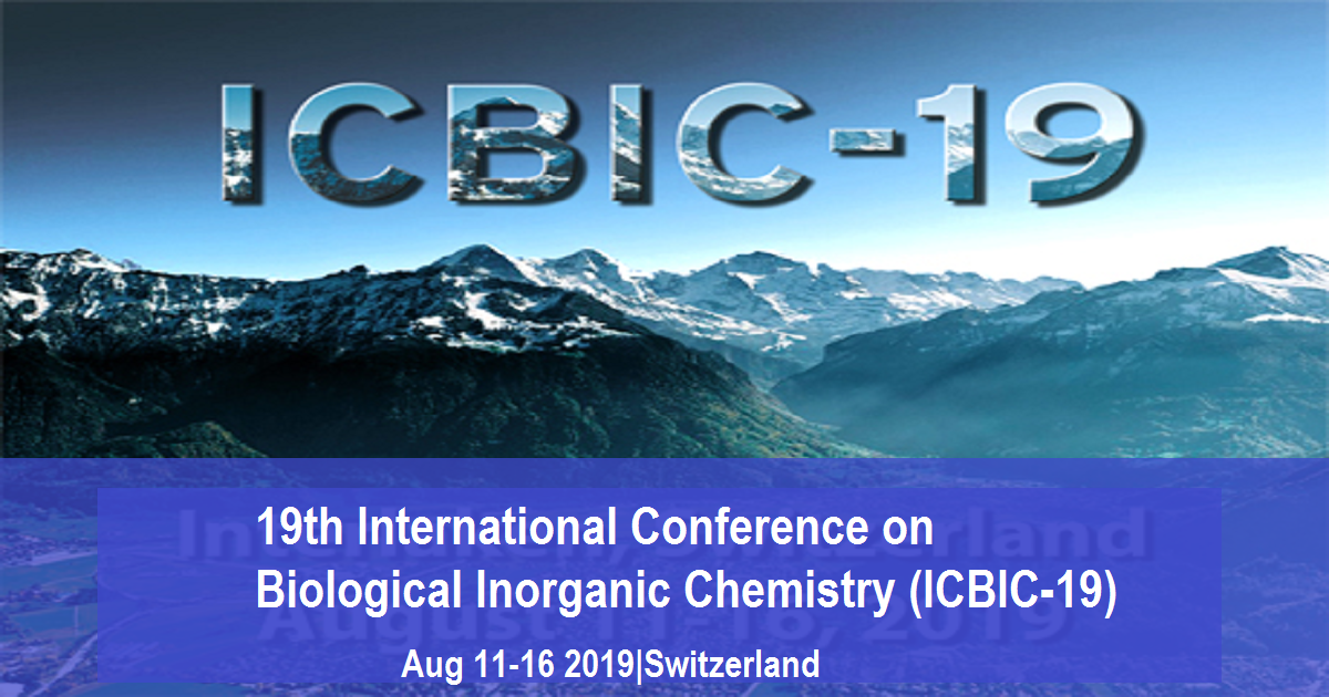 19th International Conference on Biological Inorganic Chemistry (ICBIC-19)